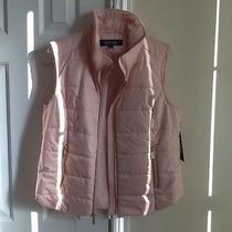 Nwt Kenneth Cole Reaction Blush Pink Lightweight Puffer Vest Gold Zipper Sz L Photo