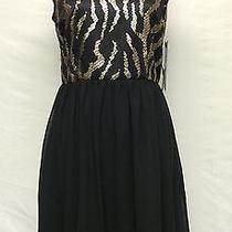 Nwt Kensie Dresses Black /gold Short Cocktailpartysemi Formal Dress Sz 4 Look Photo