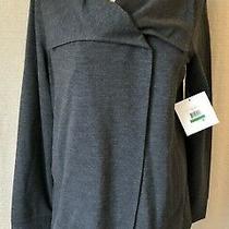 Nwt Kensie Gray Knit Jacket Asymmetrical Snap Women Large Pockets Stitch Fix Photo