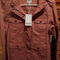 Nwt Kensie Jeans Women's Pink Utility Jacket Size M Photo