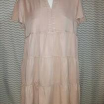 Nwt Knox Rose Pale Blush Pink Dress v-Neck Pleated Skirt Short Sleeve Xl Photo