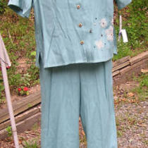 Nwt Koret Sz Pxl / 12 Shirt & Pants Tiki Island Aqua Womens 2pc P Xl Photo