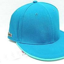 Nwt Lacoste Lve Men Women Embroidery Blue/green Cotton Baseball Cap Hat L Tl Photo