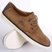 Nwt Lacoste Sevrin 5 Mens Sneakers Suede Leather Boat Shoes Dark Tan Size 9 Photo
