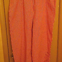 Nwt Ladies Classic Elements Pants Size xl.elastic Waist Side Pockets. Red & Wh Photo