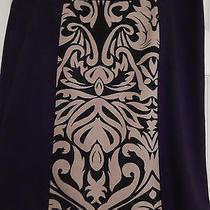 Nwt Ladies Grace Elements Black & Tan Pencil Skirt    Size 14 Photo