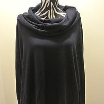 nwt.ladies' Joie Heather Navy Color Drapped Turtle Neck Knit Sweaterl Photo