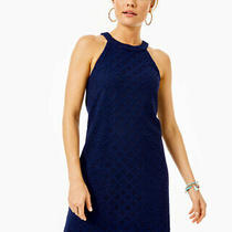 Nwt Ladies Size S True Navy Pineapple Geo Lace Rayanne Shift Dress retail178.00 Photo