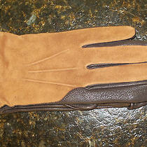 Nwt Lands End Mens Lined Brown Suede Deerskin Leather Gloves 420537 L/xl 79 Photo