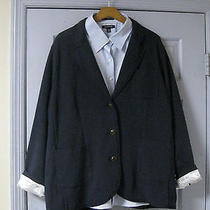 Nwt Lands End Women's 22w Milano Rib Blazer 120 & No Iron Pinpoint Oxford55 Photo