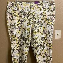 Nwt Lane Bryant Denim Capri Jeans Sz 22 Multi on White Background Stretch Photo