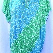 Nwt Lane Bryant Size 22/24 Women's Bright Colored Short Sleeve Top Photo