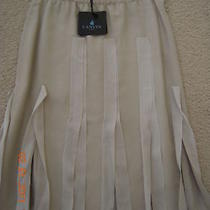 Nwt Lanvin Ivory Slit Pleat skirtsz.38 Fr/6 Us/42 It  1960 Runway Photo