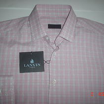 Nwt Lanvin Paris Made in Italy Men's Shirt sz.1538 Photo