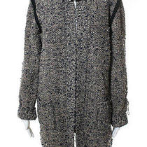 Nwt Lanvin Taupe Embellished Wool Blend Boucle Cardi Coat Sz Xl 3640 2706 Photo