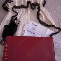 Nwt Lanvin Whiskey Topstitched Shoulder Bag/clutch  Photo