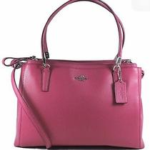 Nwt Large Coach Christie Satchel Crossgrain Leather Handbag Purse F34672 Gift  Photo