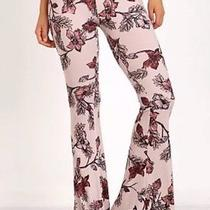 Nwt Large for Love & Lemons Ojai Blush Floral Bell Bottom Pants Nasty Gal Sexy Photo