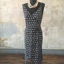 Nwt Laundry by Shelli Segal Ogee Print Summer Dress Sz 10 Fluted Hem Asymmetrcal Photo