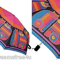 Nwt Laurel Burch Kitty Cat Fantasy Rainbow Cousins Mythical Art Compact Umbrella Photo