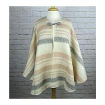 Nwt Lc Lauren Conrad Brushed Lurex Poncho Blush Neutral Cape Ruana Wrap Sweater  Photo