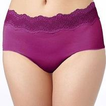 Nwt Le Mystere Perfect Pair Brief Women's Panties Size L Plum Style 2461 Photo