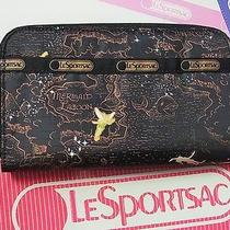 Nwt Le Sportsac Disney Lily Wallets Tink Never Land 6506-K138     Photo