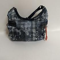 Nwt Le Sportsac Grey/black Print Nylon Purse Photo