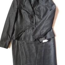 Nwt Le Suit Time to Shine Black 2pc Skirt Suit Sz 10 200 Photo