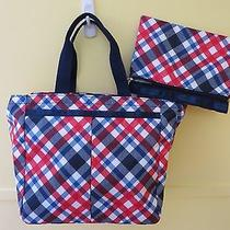 Nwt Lesportsac 7456 Tribeca Tote American Plaid  Pouch Authentic Photo