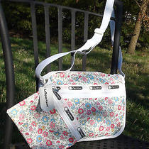 Nwt Lesportsac Basic Camera Bag W/ Matching Pouch in Tea Party Photo