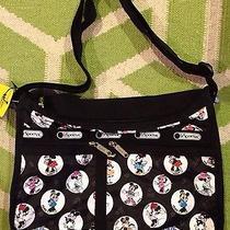 Nwt Lesportsac Celebrate Minnie Deluxe Everyday Bag Crossbody Disney Mickey Photo