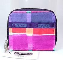 Nwt Lesportsac Claire Wallet Print Painted Plaid Photo
