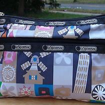 Nwt Lesportsac Cosmetic Clutch With Charm- Global Journey Photo