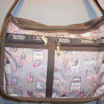 Nwt Lesportsac Deluxe Everyday Powder Room Adorable Print Photo