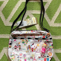 Nwt Lesportsac Disney Around the World Small Cleo W Charm Crossbody Photo