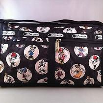 Nwt Lesportsac Disney Celebrate Minnie Deluxe Satchel Bag Photo