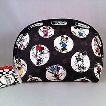 Nwt Lesportsac Disney Celebrate Minnie Medium Dome Cosmetic Bag Photo