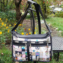 Nwt Lesportsac Disney Deluxe Everyday Bag W/ Charm - Global Journey Photo