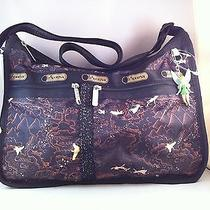 Nwt Lesportsac Disney Deluxe Everyday Bag With Tink Neverland Photo