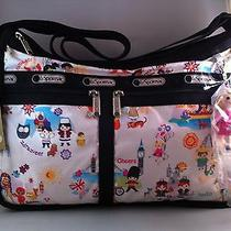 Nwt Lesportsac Disney It's a Small World Deluxe Everyday Bag Photo