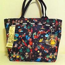 Nwt Lesportsac Disney It's a Small World Polynesian Paradise Everygirl Tote Photo
