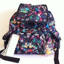 Nwt Lesportsac Disney It's a Small World Polynesian Paradise Voyager Backpack  Photo