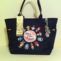 Nwt Lesportsac Disney It's a Small World Time to Share Picture Tote Photo