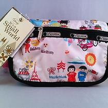 Nwt Lesportsac Disney It's a Small World Travel Cosmetic Bag Photo