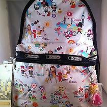Nwt Lesportsac Disney's It's a Small World Around the World Basic Backpack  Photo