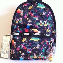 Nwt Lesportsac Disney's It's a Small World Polynesian Paradise Basic Backpack  Photo