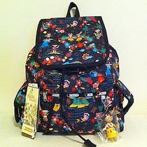 Nwt Lesportsac Disney's It's a Small World Polynesian Paradise Voyager Backpack  Photo