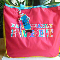 Nwt Lesportsac Dylan's Candy Bar Lecandy Tote W/ Ccharm  - Fashionably Sweet  Photo