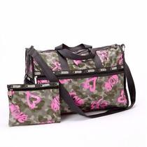 Nwt Lesportsac Extra Large Weekender in Modern Love Photo